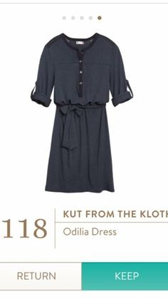 I NEED THIS DRESS! Solid, classic color with flattering fit.