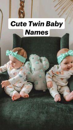 Cute Baby Twins, Cute Funny Babies, Cute Little Baby, Adorable Babies, Twin Baby Names, Cute Baby Girl Names, Exotic Baby Names, Unique Baby Names, Pretty Names