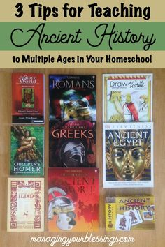 3 Tips for Teaching Multiple Ages in Your Homeschool {Ancient History}