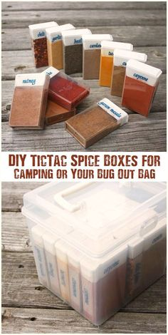 DIY TicTac Spice Boxes for Camping or Your Bug Out Bag - This is a ...