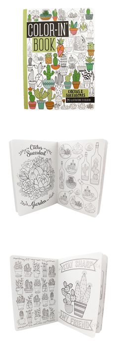 Check out our brand new travel-size coloring book for adults! 24 pages of whimsical cactus and succulents to make any day relaxing!