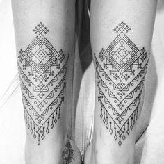 Repost of a tattoo a few months ago. Berber inspiration.
