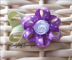 ribbon hair clip. Love this flower