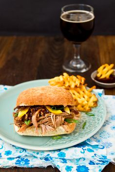 Tangerine Soy Pulled Pork Sandwich With A Thai Plum Barbecue Sauce | The Brewer & The Baker