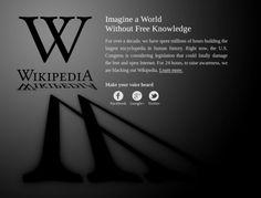 SOPA / PIPA blackout