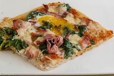 Pizza florentine, Recette Ptitchef Quiche Muffins, Plat Simple, Calzone, Vegetable Pizza, Entrees, Brunch, Breakfast, Recipes, Pizza