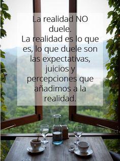 La realidad NO duele!