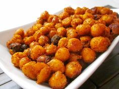 Around the Table: Loving Food in RI & Beyond : Super Snacks: Caliente Roasted Chickpeas...I going the ranch route.