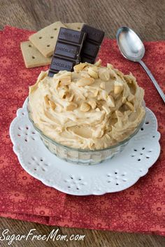 peanut butter cheesecake dip- sugar free and low carb