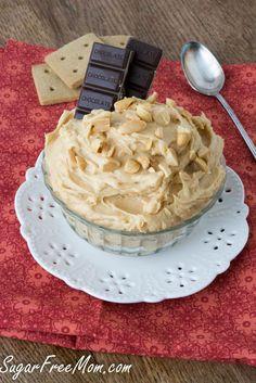 Sugar Free Peanut Butter Cheesecake Dip, low carb, gluten free