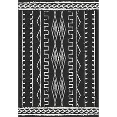 Outdoor Rug from At Home // E146 VER HELKA BLACK/IVORY 5X7