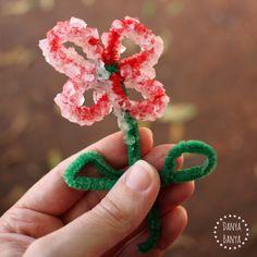 Art week! !!!!!!!  Growing a crystal flower
