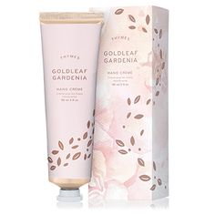 Thymes Goldleaf Gardenia Hand Creme moisturizes with shea butter, vitamin E & botanical oils mingle to nourish and hydrate. One of our best hand creams. Organic Skin Care, Natural Skin Care, Natural Gel Nails, Skincare Packaging, Perfume, Hand Care, Rosehip Oil, Gold Leaf, Packaging Design