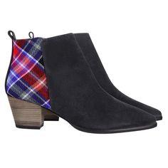 Limited Edition Suede & Aberdeen Tartan Boots