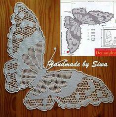 Free Crochet Butterfly Patterns - Her Crochet Crochet Butterfly Pattern, Crochet Doily Diagram, Filet Crochet Charts, Crochet Flower Patterns, Crochet Motif, Irish Crochet, Crochet Designs, Crochet Doilies, Crochet Flowers