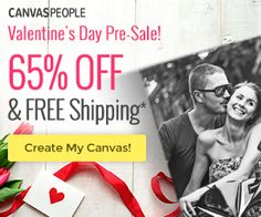 What a great Valentine's Day gift idea!! Save 65% off Canvas Photo Prints! Plus get free shipping!  Click the link below to get all of the details ► http://www.thecouponingcouple.com/valentines-gift-idea-65-off-canvas-prints-free-shipping/ #ExtremeCouponing #Coupons #Couponing  Visit us at http://www.thecouponingcouple.com for more great posts!