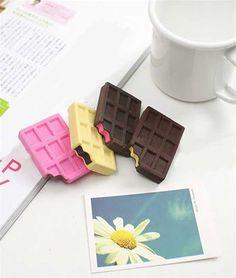 Fun choco-bar Japanese Erasers; perfect for tweens #BacktoSchool $2.75