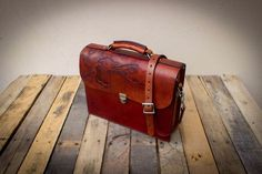 Picture of Tooled Leather Briefcase