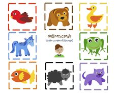 Brown+Bear+9+Pattern+cards.jpg 1,600×1,236 pixels
