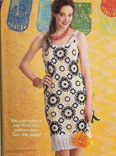 """"""" MOSSITA BELLA PATRONES Y GRÁFICOS CROCHET """": Magnificent Motifs, Vestido y Blusa con Motivos Magníficos a Crochet"""