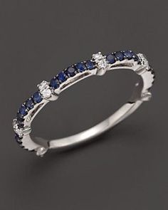 Sapphire and Diamond Ring in White Gold Jewelry & Accessories - Fine Jewelry - Rings - Bloomingdale's Sapphire Jewelry, Diamond Jewelry, Jewelry Rings, Jewelry Accessories, Fine Jewelry, Jewelry Design, Diamond Rings, Diamond Bracelets, Silver Jewelry