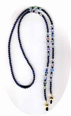 Beaded Eyeglass Chains, Beaded Eyeglass Holders/Leashes and Beaded ID Badge Lanyards by Bead Wizardry Designs Beaded Jewelry Designs, Necklace Designs, Beaded Necklace, Beaded Bracelets, Gold Chains For Men, Eyeglass Holder, Eyeglasses, Creations, Luxury Sunglasses