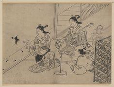 Nishikawa Sukenobu: Shadow puppets - Library of Congress