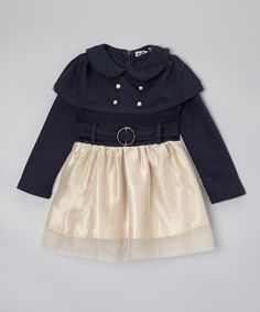 Another great find on #zulily! Navy Buckle Dress - Infant, Toddler & Girls by Little Miss Fairytale #zulilyfinds