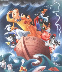 Walt Disney Miguel Covarrubias, 1937 Gouache by Smithsonian Libraries,