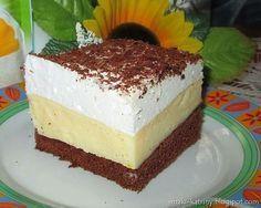 Ciasto budyniowiec ze śmietankowa pianką-rewelacyjne i szybkie Cake Cookies, Cupcake Cakes, Cookie Desserts, Homemade Cakes, Vanilla Cake, Cake Recipes, Sweet Tooth, Cheesecake, Good Food