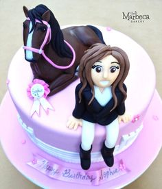 Equestrian Cake Cake by MarbecaBakery