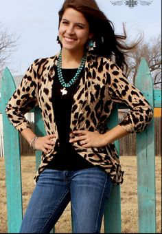Along The Wild Side Leopard Cardigan - Also in Plus Size