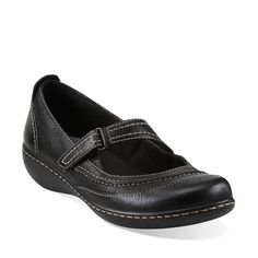 f1f64f698f97 Ashland Avenue in Black Tumbled Leather - Womens Shoes from Clarks Clarks  Shoes Women