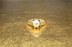 Pearl Engagement | Antique Pearl Ring | Art Nouveau Ring | Natural Pearl Ring | Artisan Engagement | 1900s Engagement | Size 8 Engagement