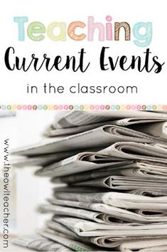 Use current events in your elementary classroom to teach social studies, reading, and writing skills. Students practice summarizing the article, citing their sources, and providing their opinion. Check out the FREEBIE at this post! 6th Grade Social Studies, Social Studies Classroom, Social Studies Activities, Teaching Social Studies, Teaching Career, Classroom Community, History Teachers, Teaching History, History Education