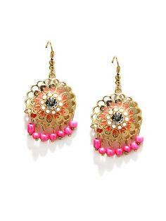 Addons Pink Enamelled Danglers!  #earrings #danglers