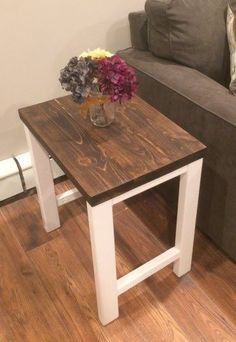 Pottery Barn Inspired End Table, Outdoor Living, Painted Furniture  #livingroomdesigns
