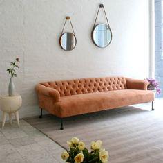 apricot velvet sofa inspirations | interiors | livign room