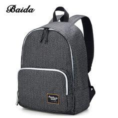 BAIDA Fashion Women Backpack High Quality Notebook Bolsa Mochila Laptop Computer Female Bags Travel School Daypack for College