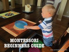 Montessori Beginners Guide - Lots of links to montessori resources