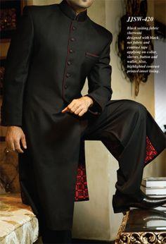 Junaid Jamshed Winter Collection 2015, Men Wedding Long Sherwani 2015 (1)