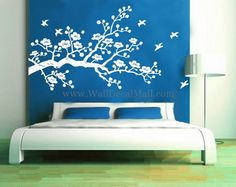 Beautiful Cherry Blossom Flower Wall Decals – WallDecalMall.com
