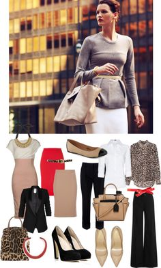 Love this gray knit top paired with the ivory pencil skirt (or a bold mustard/magenta/red) Work Fashion, Fashion Outfits, Womens Fashion, Office Outfits, Work Outfits, Blazers, Capsule Outfits, Fashion And Beauty Tips, Professional Attire