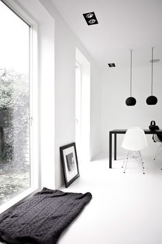 A Black & White Townhouse by Norm Architects In Copenhagen, Denmark