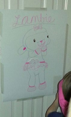 Doc McStuffins party: pin the tail on lambie.