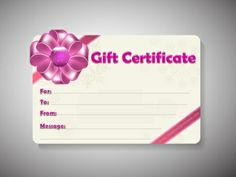 Birthday gift certificate template   Free Printables    Pinterest     Free Printable and Editable Gift Certificate Templates