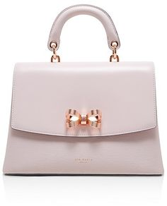 0c31c2b33114d5 Ted Baker Looped Bow Lady Leather Satchel Handbags - Bloomingdale s