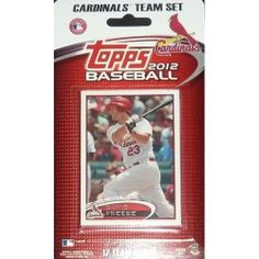 2012 Topps - ST LOUIS CARDINALS Team Set by Topps. $3.99. 2012 Topps ST LOUIS CARDINALS Team Set 3 Jaime Garcia 26 Kyle Lohse 44 Edwin Jackson 53 St. Louis Cardinals (2011 World Series Game 7) 90 Adron Chambers RC 93 Skip Schumaker 108 Albert Pujols (2011 World Series Game 3) 174 Yadier Molina 233 St. Louis Cardinals (2011 NLDS Game 6) 258 Jon Jay 264 Chris Carpenter (2011 World Series Game 5) 273 David Freese 291 David Freese (2011 World Series Game 6) 320 Matt Holli...
