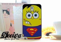 Spongebob Superman Phone Case For iPhone Samsung iPod Sony – Feeiva