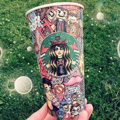 Les dessins sur les tasses Starbucks de Carrah Aldridge - http://www.dessein-de-dessin.com/les-dessins-sur-les-tasses-starbucks-de-carrah-aldridge/
